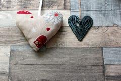 Los corazones de ValentineImágenes de archivo libres de regalías