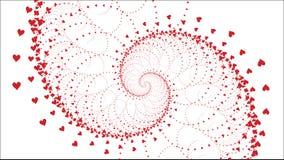 Los corazones del amor giran el día del ` s de la tarjeta del día de San Valentín - ejemplo - vector Foto de archivo libre de regalías