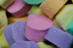 Los corazones del caramelo se cierran para arriba imágenes de archivo libres de regalías