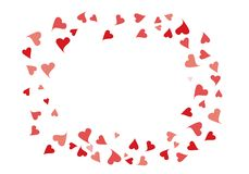 Los corazones del confeti enmarcan ilustración del vector