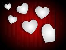 Los corazones del fondo indican a Valentine Day And Abstract Fotografía de archivo