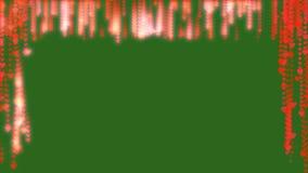 Los corazones fluyen del top como la cortina Animación roja de los corazones del resplandor Lazo inconsútil Pantalla del verde de ilustración del vector