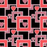 Los corazones geométricos de los elementos del modelo brillante inconsútil texturizan el backgr Fotografía de archivo libre de regalías