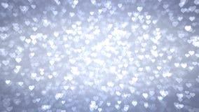 Los corazones ligeros aparecen en el fondo brillante Animación del lazo del extracto del día de fiesta del día de tarjetas del dí libre illustration