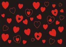 Los corazones modelan para siempre la bandera del fondo Imagen de archivo