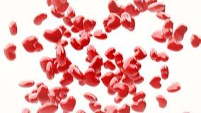 Los corazones que caen colocan