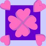 Los corazones remolinaron juntos en una teja y enmarcado por el MES Foto de archivo