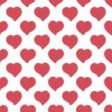 Los corazones rojos grandes dan el modelo inconsútil artístico exhausto Imágenes de archivo libres de regalías