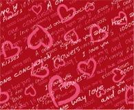 Modelo inconsútil del día de tarjeta del día de San Valentín Imágenes de archivo libres de regalías