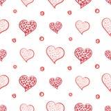 Los corazones y Dots Simple dan a fondo exhausto el modelo inconsútil Imagen de archivo