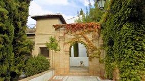 Los Cordovas slott-Albayzin-Granada Arkivbild