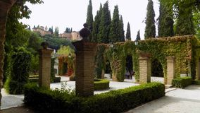Los Cordovas slott-Albayzin-Granada Arkivfoton