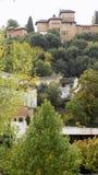Los Cordovas slott-Albayzin-Granada Arkivbilder