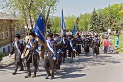 Los cosacos del ejército del cosaco de Terek. Fotografía de archivo libre de regalías