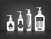 Los cosméticos embotellan vector de empaquetado Fotografía de archivo libre de regalías