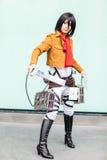 los cosplayers se visten como los caracteres de la historieta y del juego Fotografía de archivo