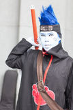 los cosplayers se visten como los caracteres de la historieta y del juego Imagen de archivo libre de regalías