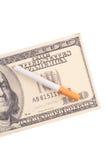 Los costes de fumar Foto de archivo libre de regalías