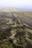 Los cráteres de Laki fotografía de archivo