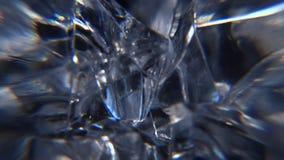 Los cristales de hielo se cierran encima de fondo del movimiento almacen de metraje de vídeo