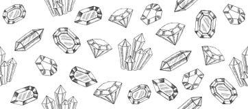 Los cristales geométricos modelan con y los minerales libre illustration