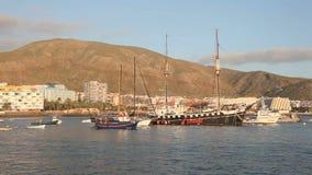 Los Cristianos,特内里费岛,西班牙 免版税图库摄影