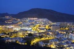 Los Cristianos At Night, Tenerife Spain Royalty Free Stock Photo