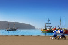 Los Cristianos beach in Arona Tenerife south Stock Images