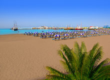 Los Cristianos beach in Arona Tenerife south Stock Photos