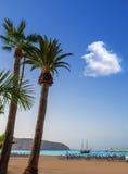 Los Cristianos beach in Arona Tenerife south Stock Photo
