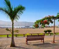 Los Cristianos beach in Arona Tenerife south Royalty Free Stock Photos