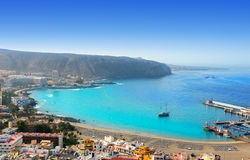 Los Cristianos beach in Arona Tenerife south Stock Image
