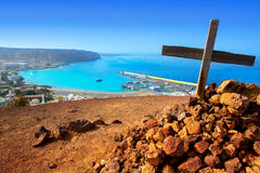 Los Cristianos beach in Arona Tenerife south Royalty Free Stock Photo