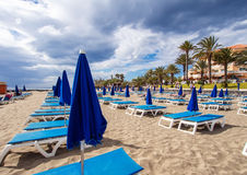 Los Cristianos beach Royalty Free Stock Photography