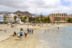 Los Cristianos beach Stock Image