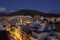 Los Cristianos at dusk, Tenerife Stock Photography