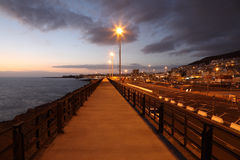 Los Cristianos at dusk, Tenerife Stock Image