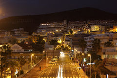 Los Cristianos at dusk, Tenerife Royalty Free Stock Image