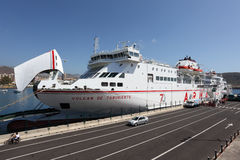 Los Cristianos ferry port Royalty Free Stock Images