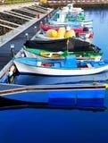 Los Cristianos harbor port in Adeje coast Arona Royalty Free Stock Photos