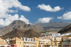 Los Cristianos I góry, Tenerife, Hiszpania Obrazy Stock