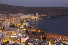 Los Cristianos at night, Tenerife Royalty Free Stock Images