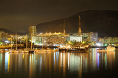 Los Cristianos at night. Tenerife, Spain Stock Images