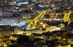 Los Cristianos at night, Tenerife Spain Stock Photo
