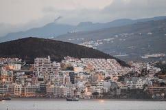 Los Cristianos Ocean Town Stock Image