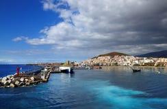 Los Cristianos resort in Tenerife Royalty Free Stock Photos