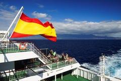 Los Cristianos toevlucht in Tenerife Stock Foto