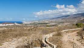 Los Cristianos View From The Hills, Tenerife, Spain Royalty Free Stock Photo