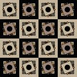 Los cuadrados en cuadrados Modelo geométrico inconsútil Foto de archivo libre de regalías