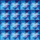 Los cuadrados modelan diseño del azul real Fotos de archivo